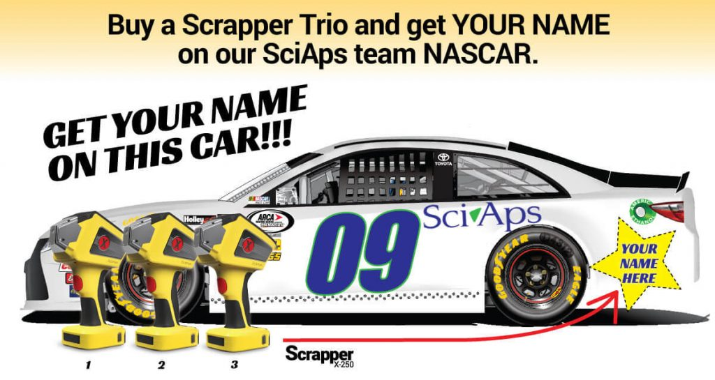 ISRI PROMOTION: Buy a Scrapper Trio and get YOUR NAME on our SciAps team NASCAR