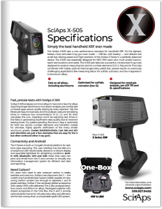 SciAps X-505 Specifications